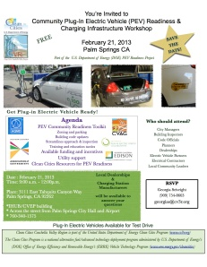 Electric Drive Community Readiness Workshop